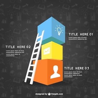 Инфографики шаблон с кубиками