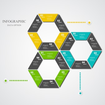 Infographic template with geometric shapes
