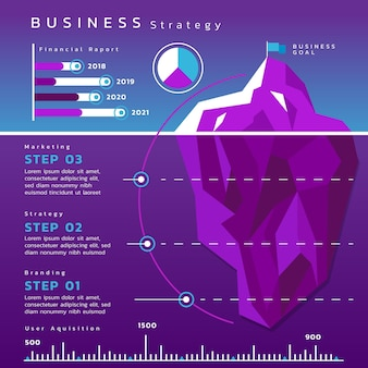 Infographic template with iceberg