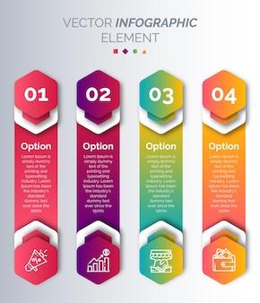 아이콘과 숫자가있는 infographic 템플릿
