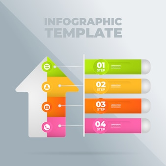 Infographic  template with options or steps