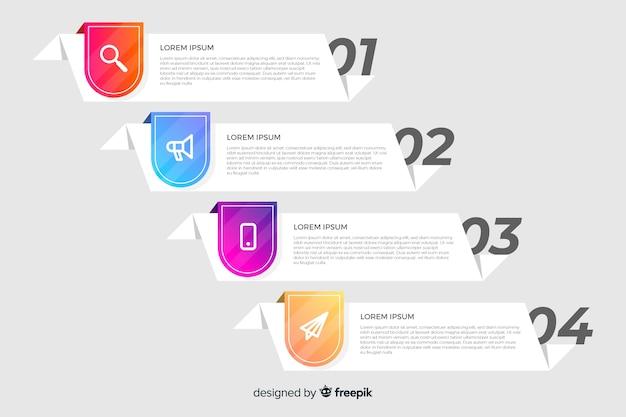 Инфографики шаблон с концепцией шагов