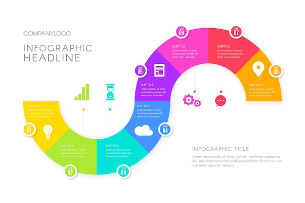 Infographic template with steps