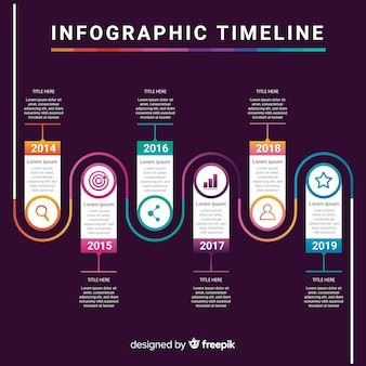 Infographic template with timeline concept