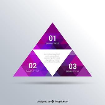 三角形とインフォグラフィックテンプレート