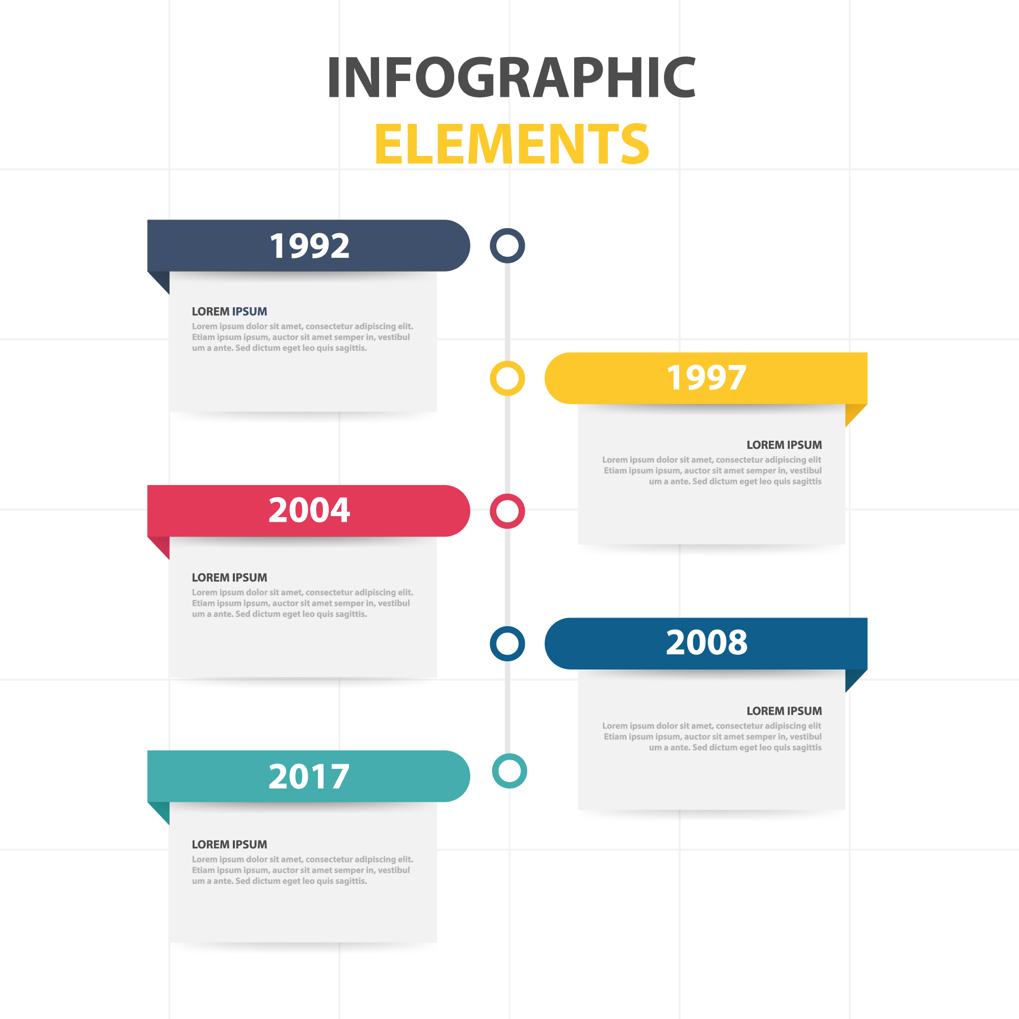 Infographic template with yearly info