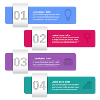Infographic templates 4 steps,
