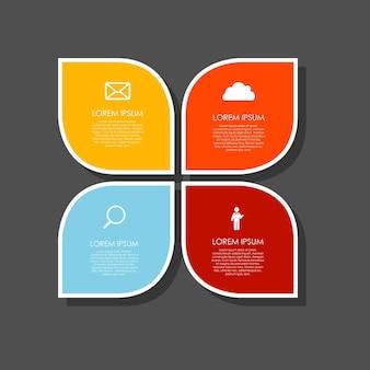 Шаблоны инфографики для бизнес-векторной иллюстрации. eps10