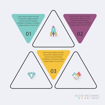 비즈니스를위한 infographic 템플릿입니다.
