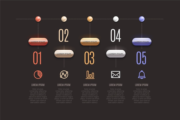 Infographic timeline 3d glossy design