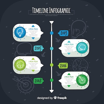 Infographic timeline background