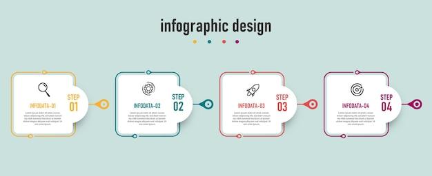 Шаблон диаграммы временной шкалы инфографики