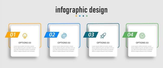 Infographic timeline chart template