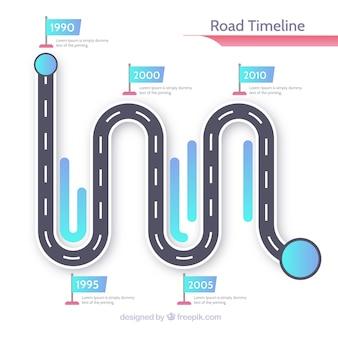 Концепция инфографической графики с дорогой