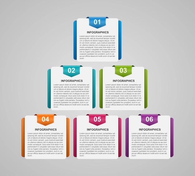 インフォグラフィック、タイムライン、ビジネスプレゼンテーションのデザインテンプレート。