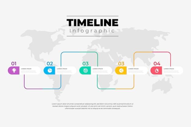 インフォグラフィックタイムラインデザインテンプレート