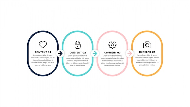 Infographic timeline number for business strategy  template