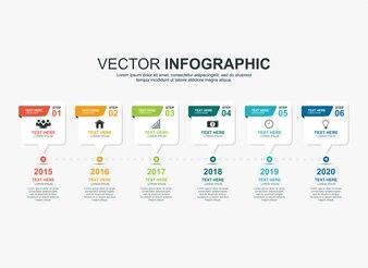 インフォグラフィックタイムラインプロセスチャートテンプレート