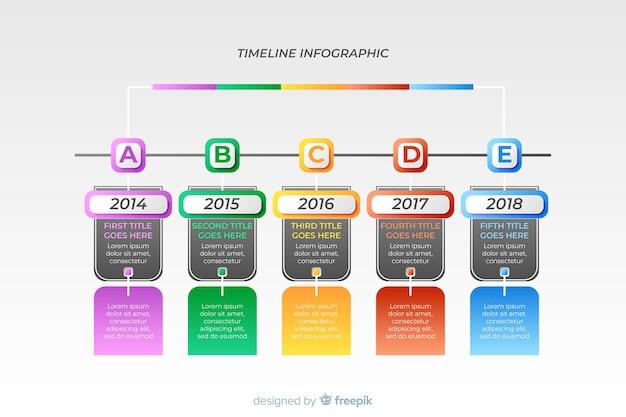 Infographic timeline template flat design