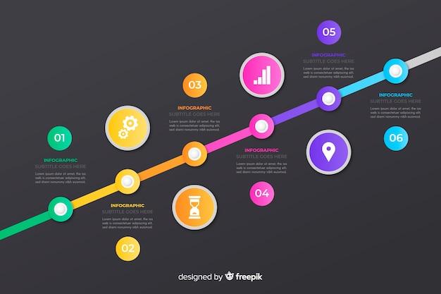 Infographic 일정 템플릿 평면 디자인