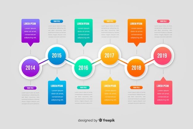 Infographic timeline template flat design