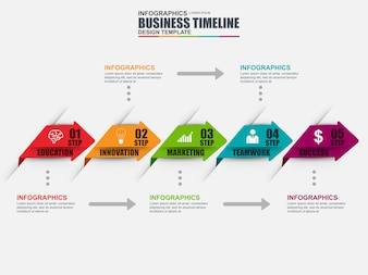 Infographic timeline vector design template. Can be used for workflow layout