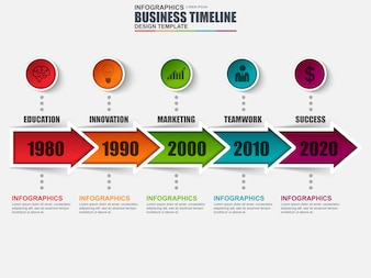 Infographic timeline vector design template. Can be used for workflow layout.