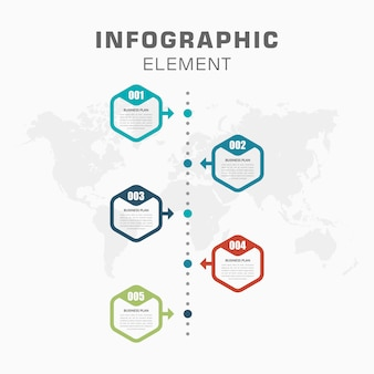 Infographic timeline with number for business strategy
