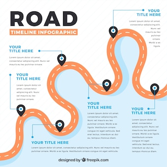 Infographic timeline with road concept