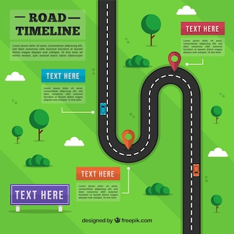 Infographic timeline with street concept