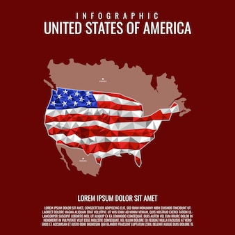 Infographic united states of america