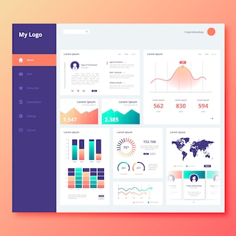 Infographic user panel dashboard