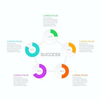 Инфографический вектор может быть адаптирован к вашим потребностям