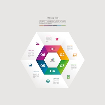 Infographic vector graphic download template modern