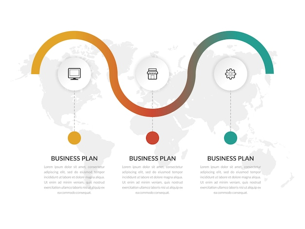 Infographic vector template business marketing with icons