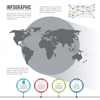 Infographic whole world