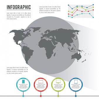 Инфографический весь мир