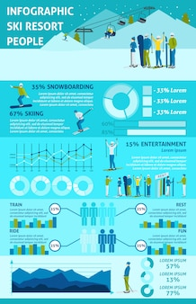 Infographic  winter active rest in mountains