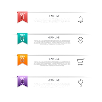 Infographic  with 4 options, steps or processes