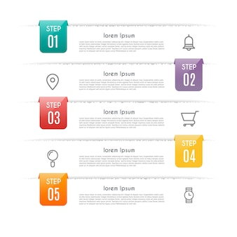 Infographic  with 5 options, steps or processes