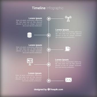 Infografica con sfondo sfocato