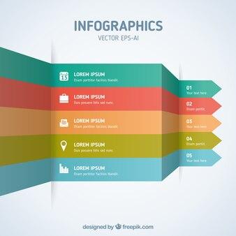 Инфографики с цветными полосами
