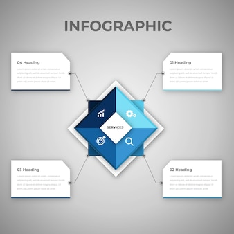 Infographic with creative corporate design