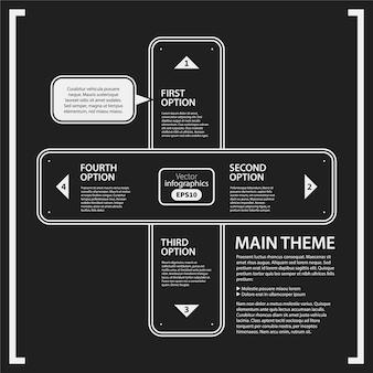 Infografica con disegno trasversale