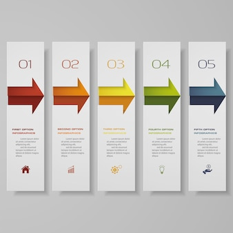 Infographic with horizontal banners