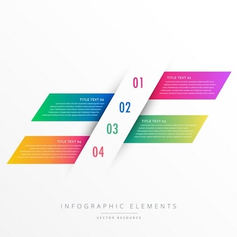 創造的な4つのステップインフォグラフィックバナー