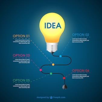 Infographic with a light bulb