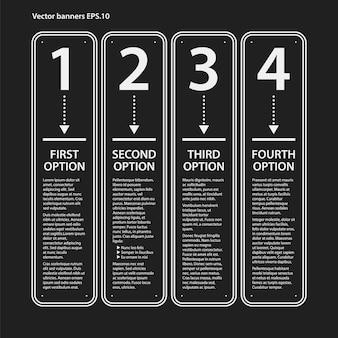 Infografica con opzioni e design banner