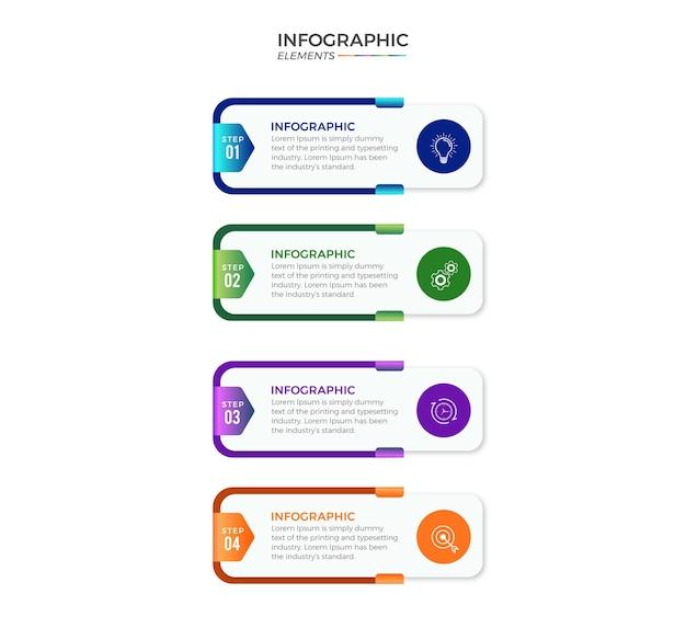 Инфографика с вариантами или шагами