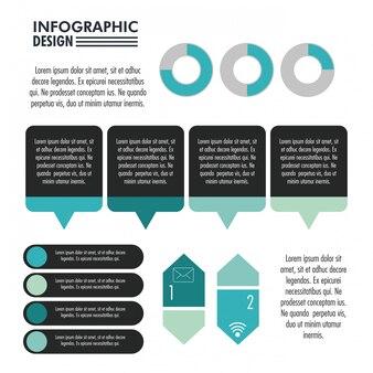 Infographic with statistics design